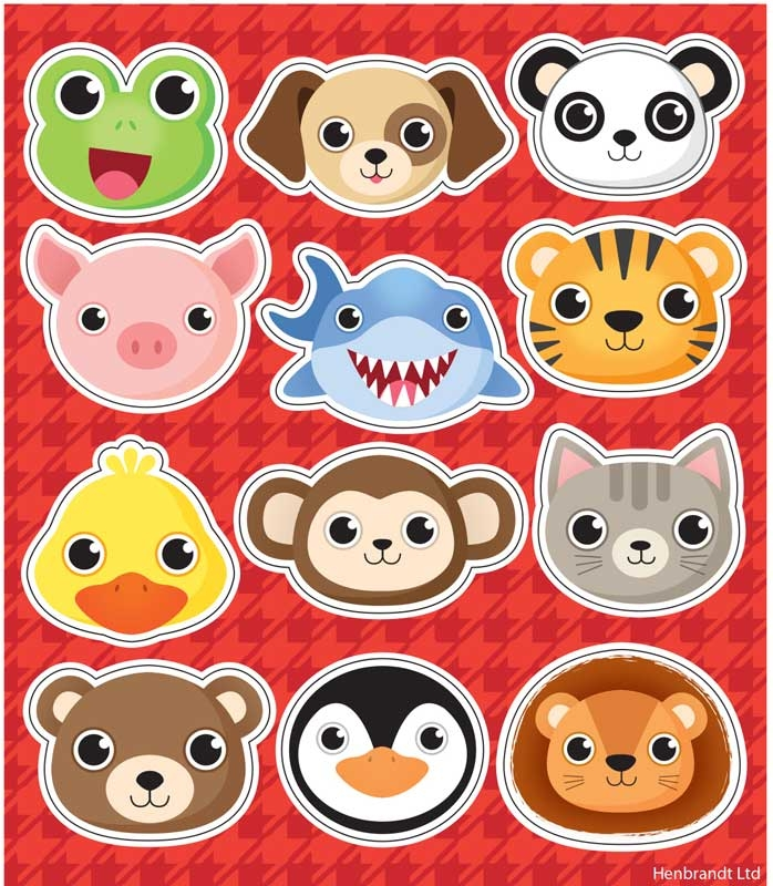 Wholesalers of Fun Stickers Stickers Animals 10x11.5cm 12pcs Per Card toys