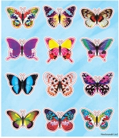 Wholesalers of Fun Stickers Stickers Butterfly 10x11.5cm 12pcs Per Card toys Tmb