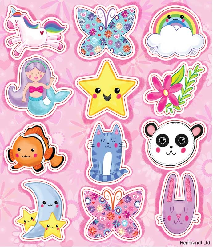 Wholesalers of Fun Stickers Stickers Cute 10x11.5cm 12pcs Per Card toys