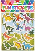 Wholesalers of Fun Stickers Stickers Dinosaur 10x11.5cm 12pcs Per Card toys image