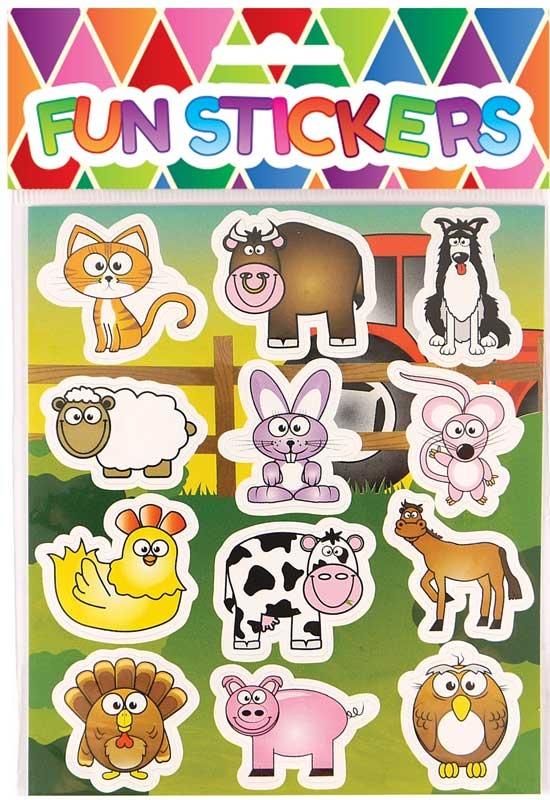 Wholesalers of Fun Stickers Stickers Farm 10x11.5cm 12pcs Per Card toys