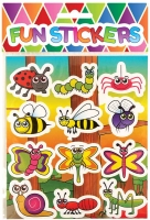 Wholesalers of Fun Stickers Stickers Insect 10x11.5cm 12pcs Per Card toys Tmb