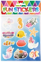 Wholesalers of Fun Stickers Stickers Mermaids 10x11.5cm 12pcs Per Card toys image