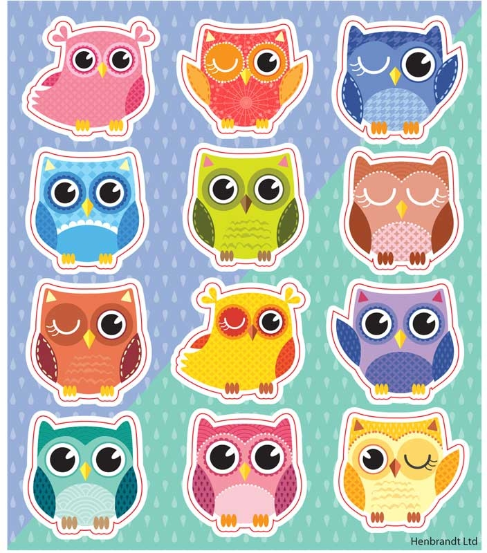Wholesalers of Fun Stickers Stickers Owls 10x11.5cm 12pcs Per Card toys