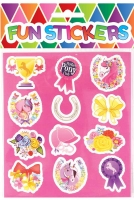Wholesalers of Fun Stickers Stickers Ponies 10x11.5cm 12pcs Per Card toys image