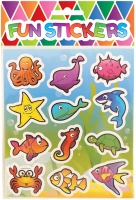 Wholesalers of Fun Stickers Stickers Sealife 10x11.5cm 12pcs Per Card toys image
