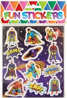 Wholesalers of Fun Stickers Stickers Super Hero 10x11.5cm 12pcs Per Card toys image