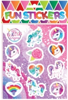 Wholesalers of Fun Stickers Stickers Unicorn 10x11.5cm 12pcs Per Card toys image