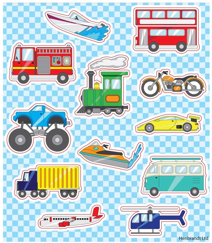Wholesalers of Fun Stickers Stickers Vehicles 10x11.5cm 12pcs Per Card toys