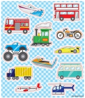 Wholesalers of Fun Stickers Stickers Vehicles 10x11.5cm 12pcs Per Card toys image
