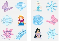 Wholesalers of Fun Tattoos - Ice Princess 6 Piece Tattoos toys image