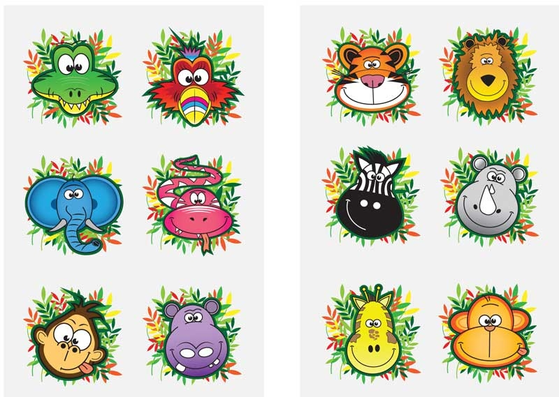 Wholesalers of Fun Tattoos - Jungle toys