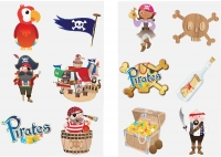 Wholesalers of Fun Tattoos - Pirates toys image