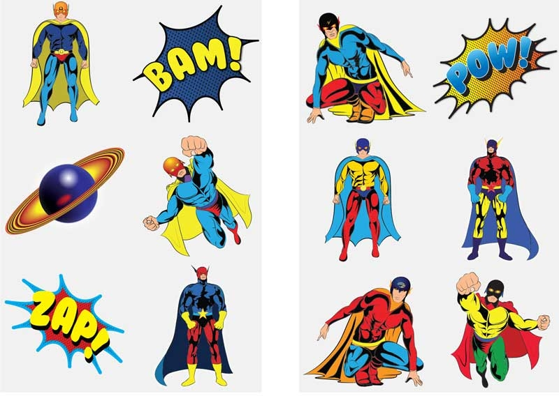 Wholesalers of Fun Tattoos - Super Hero Tattoos Asst toys