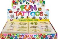 Wholesalers of Fun Tattoos Mini 4cm Aliens 6 Pcs Per Card 2 Asst toys image 2