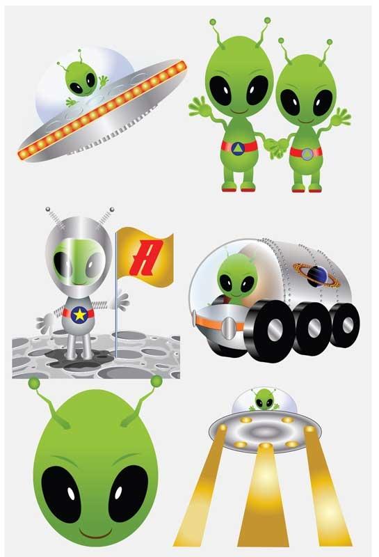 Wholesalers of Fun Tattoos Mini 4cm Aliens 6 Pcs Per Card 2 Asst toys