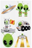Wholesalers of Fun Tattoos Mini 4cm Aliens 6 Pcs Per Card 2 Asst toys image