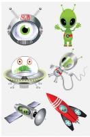 Wholesalers of Fun Tattoos Mini 4cm Aliens 6 Pcs Per Card 2 Asst toys image 3