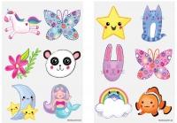 Wholesalers of Fun Tattoos Mini 4cm Cute 6 Pcs Per Card 2 Asst toys image