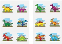 Wholesalers of Fun Tattoos Mini 4cm Dinosaur 6 Pcs Per Card 2 Asst toys image