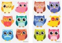 Wholesalers of Fun Tattoos Mini 4cm Owls 6 Pcs Per Card 2 Asst toys image