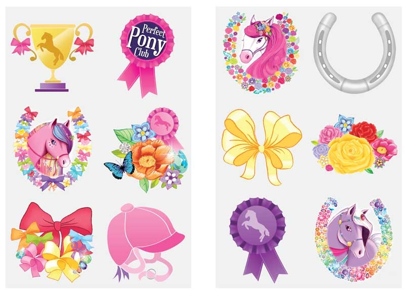 Wholesalers of Fun Tattoos Mini 4cm Ponies 6 Pcs Per Card 2 Asst toys