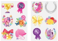 Wholesalers of Fun Tattoos Mini 4cm Ponies 6 Pcs Per Card 2 Asst toys image