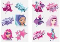 Wholesalers of Fun Tattoos Mini 4cm Super Girls 6 Pcs Per Card 2 Ast toys image