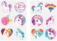 Wholesalers of Fun Tattoos Mini 4cm Unicorn 6 Pcs Per Card 2 Asst toys image