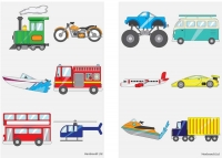 Wholesalers of Fun Tattoos Mini 4cm Vehicles 6 Pcs Per Card 2 Asst toys image
