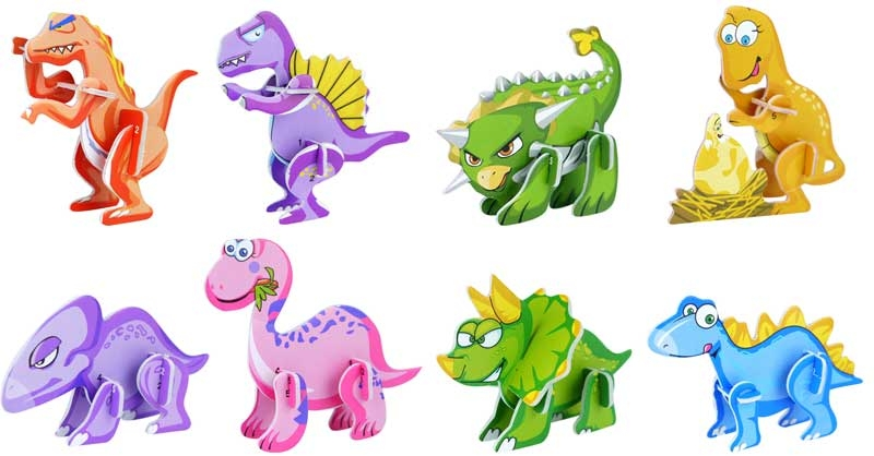 Wholesalers of Fun Toys - 3d Dinosaur Puzzle toys