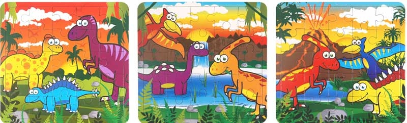 Wholesalers of Fun Toys - Dinosaur Puzzle Asst toys