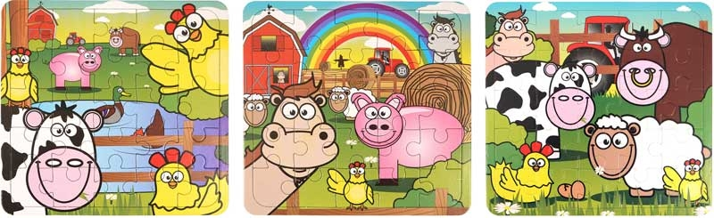 Wholesalers of Fun Toys - Farm Animal Puzzle Asst toys