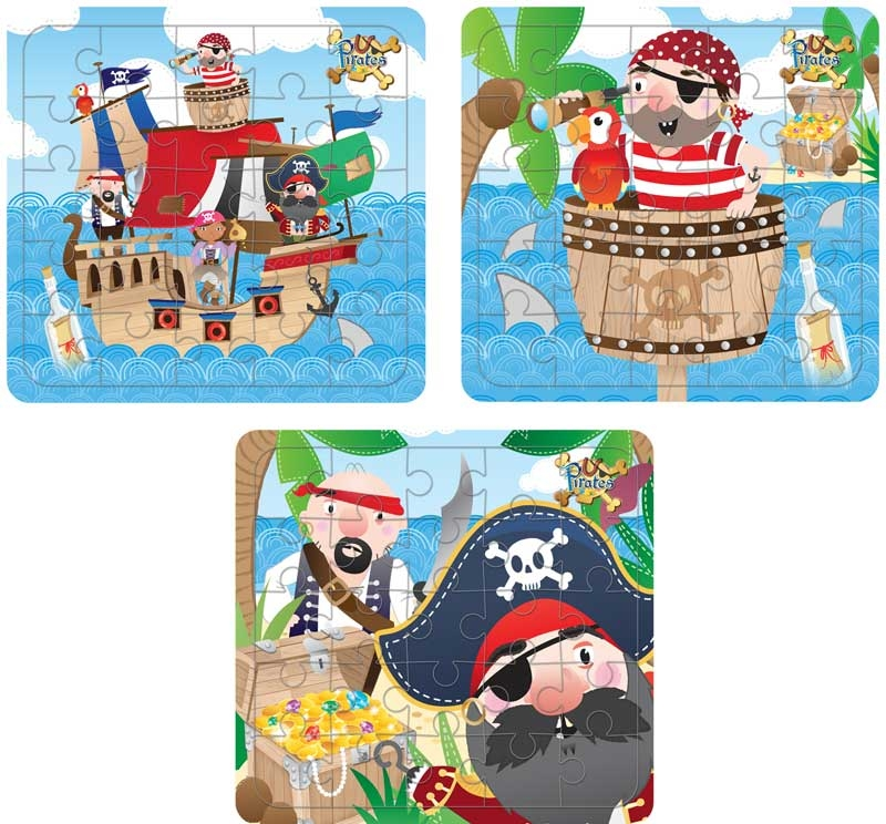 Wholesalers of Fun Toys - Pirate Puzzle Asst toys