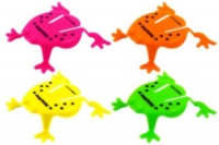 Wholesalers of Fun Toys Frog Jumping 5.5cm 4 Asst Neon Cols toys image