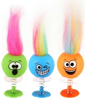 Wholesalers of Fun Toys Jump Ups Smile Faces Withhair 6cm 6 Asst toys image 3