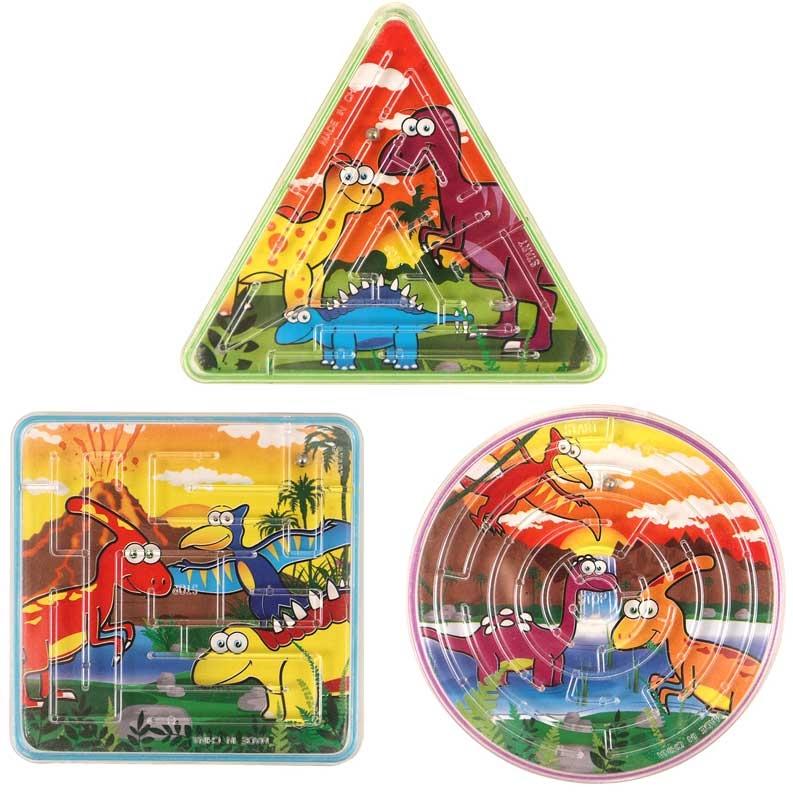 Wholesalers of Fun Toys Puzzle Maze Dinosaur 3 Asst Shapes toys