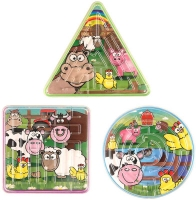 Wholesalers of Fun Toys Puzzle Maze Farm 3 Asst Shapes toys image