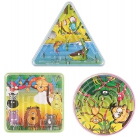 Wholesalers of Fun Toys Puzzle Maze Jungle 3 Asst Shapes toys image
