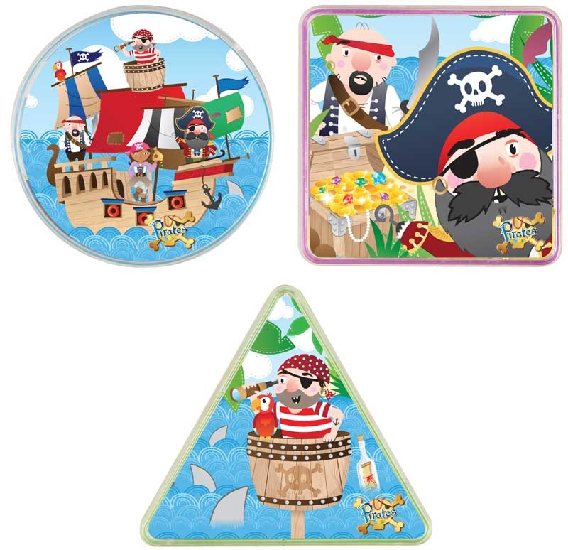 Wholesalers of Fun Toys Puzzle Maze Pirate 3 Asst Shapes toys