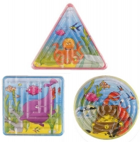 Wholesalers of Fun Toys Puzzle Maze Sealife 3 Asst Shapes toys image