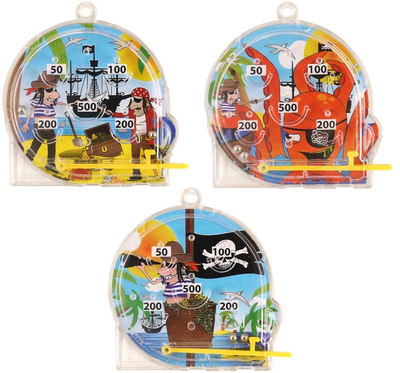 Wholesalers of Fun Toys Puzzle Pinball Pirate 5.5cm X 5.8cm 3 Asst toys