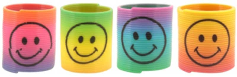 Wholesalers of Fun Toys Spring Smile Face 3.5cm Rainbow toys