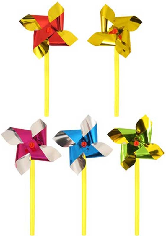 Wholesalers of Fun Toys Windmill Mini Foil 7cm With10cm Stick Asst Cols toys