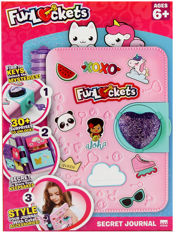 Wholesalers of Funlockets Secret Journal toys