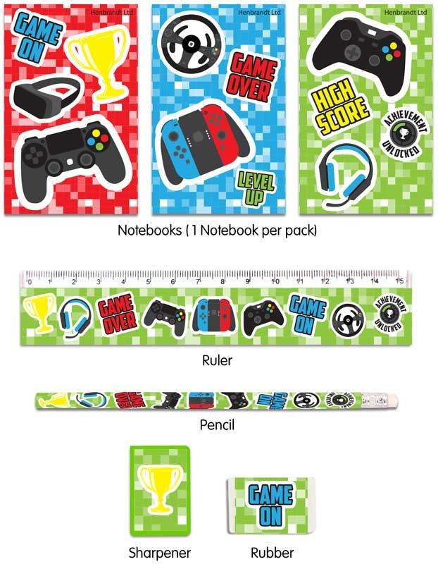 Wholesalers of Gamer Stationery Set 5pc toys