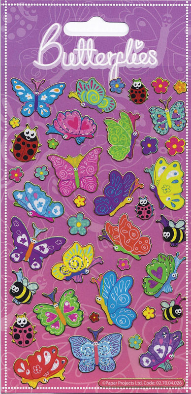 Wholesalers of Happy Butterflies Sparkle Stickers toys
