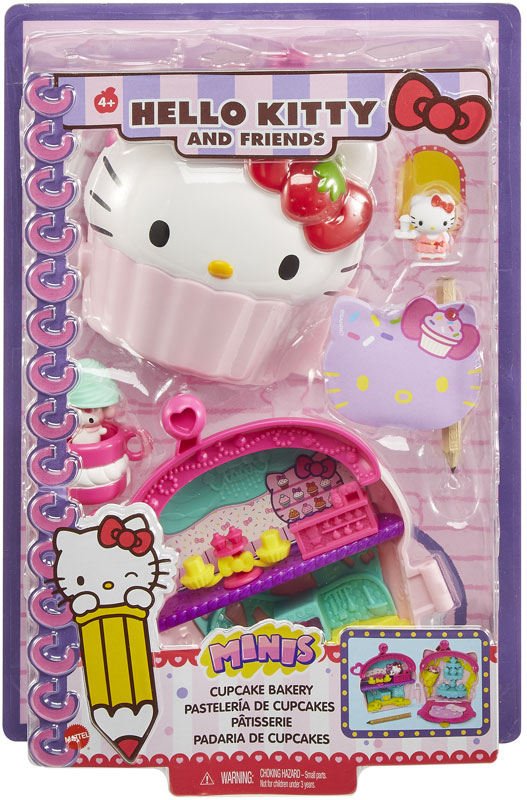 Wholesalers of Hello Kitty Mini Playset Noteables Cup Cake Compact toys