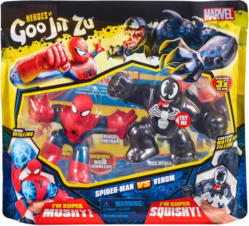 Wholesalers of Heroes Of Goo Jit Zu Marvel Versus Pack - Spiderman Vs Venom toys