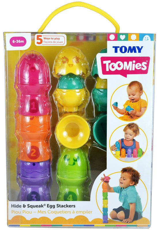 Wholesalers of Hide & Squeak Egg Stackers toys